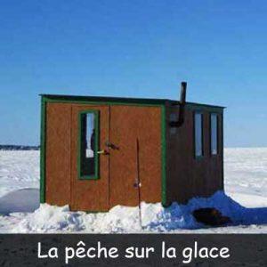 Un forfait de pêche blanche sur les glaces du saguenay lac saint jean ça vous dit ? Votre guide de pêche blanche sur glace charles dufour de pêche blanche lac st jean vous invite à vivre une aventure de pêche blanche au doré, brochet et à la perchaude. Notre équipe de guide de pêche sur le lac st jean sera prendre soin de vous bien abrité à l'intérieur de nos cabane à pêche sur glace. Location de cabane à pêche au doré brochet perchaude avec transport en motoneige